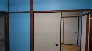 室内壁ブルー