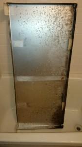 淵野辺浴室鏡洗浄前