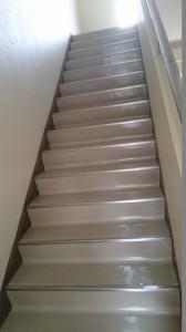 階段ワックス後